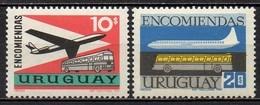 Uruguay - Colis Postaux - 1969 - Yvert N° 98 & 99 ** - Avion Et Autobus - Uruguay