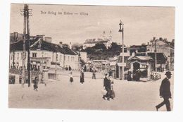 Wilna Der Krieg Im Osten 1916 OLD POSTCARD 2 Scans - Lithuania