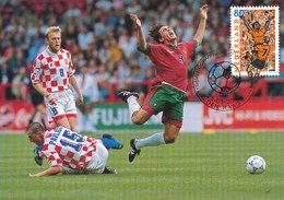 D32424 CARTE MAXIMUM CARD FD 2000 NETHERLANDS - SOCCER EURO 2000 CP ORIGINAL - UEFA European Championship