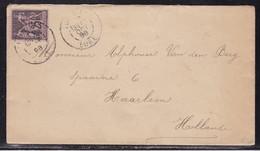 Eure, Yvert N° 97, Càd Louviers De 1892 Pour La Hollande - Postmark Collection (Covers)