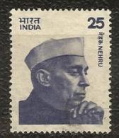 INDIA, 1976 , 25p,  NEHRU, Definitive,  Medium Size,Yvert 481A, Michel 677 (IIb)   FINE USED - India