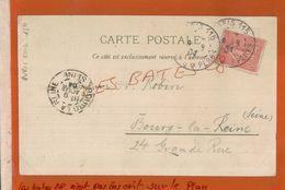 Chromos SOUVENIR DE  ECOLE MILITAIRE  CHROMO  CACHET A DATE Sur Semeuse  PARIS 115 - PERES, BOURG LA REINE Jan 2018 303 - 1877-1920: Semi Modern Period