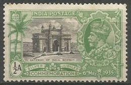 India - 1935 Gateway Of India 1/2a Inverted W/m MLH *   SG 240w  Sc 142w - 1911-35 Roi Georges V