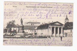 Wilna Napoleonsplatz 1916 OLD POSTCARD 2 Scans - Lithuania