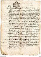 CACHET DE GENERALITE  DE MONTAUBAN FOIX ET BIGORRE  FAIT A GALAN (HAUTES-PYRENEES) EN 1690 - Seals Of Generality