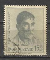 INDIA, 1961, Acharya Prafulla Chandra Ray, Chemist & Reformer, Mercurous Nitrite. Chemistry, 1 V, FINE USED - India