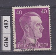 GERMANIA IMPERO, 1941Hitler, 40 Pf, Usato - Oblitérés