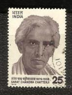 INDIA, 1976, Birth Centenary Of Sarat Chandra Chatterji, Novelist, Writer., 1 V,  FINE USED - India
