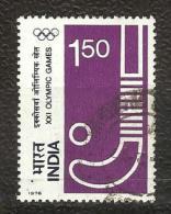 INDIA, 1976, XXI Olympic Games, Olympics,  Athletics,  Re 1.50  Stamp, 1 V,  FINE USED - India
