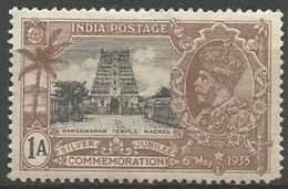 India - 1935 Ramaswaram Temple 1a MH *   SG 242  Sc 144 - 1911-35 Roi Georges V