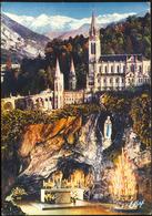 23 - LOURDES - La Grotte Et La Basilique. - Lourdes