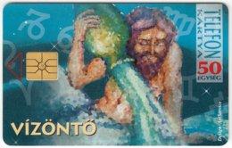 HUNGARY D-903 Chip Matav - Signs Of Zodiac, Aquarius - Used - Hungary