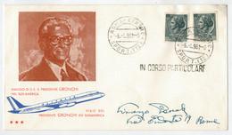 F.D.C    VIAGGIO  DEL  PRESIDENTE  GRONCHI  IN  SUD-AMERICA    1961      (VIAGGIATA) - F.D.C.