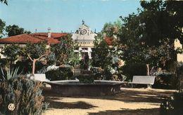 CPSM  -  ALGERIE  -  VIALAR -  Jardin Public Et La Mairie. - Altre Città