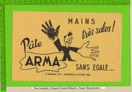 BUVARD & Blotting Paper :  Mains Sales Tres Sales PATE ARMA  Marseille Alger - Perfume & Beauty