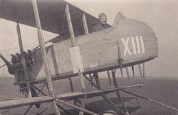 Aviateur Avec Avion Moteur Arriere Numero XIII - Autres