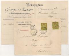 Centrages Parfaits, 20c SAGE X2, SAINT GERMAIN EN LAYE Seine Et Oise . Georges MASSON, Bois De Sciage Et De Charpente. - 1876-1898 Sage (Type II)