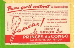 BUVARD Blotter  : Baume Du Perou  Le Savon Des Princes Du Congo - Perfume & Beauty