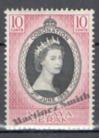Malaysia Perak - Malasia 1953, Yvert 99, Coronation Of Queen Elizabeth II - MNH - Malasia (1964-...)
