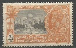 India - 1935 Taj Mahal 2.5a Inverted W/mark MH *   SG 244w  Sc 146w - 1911-35 Roi Georges V