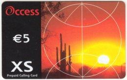 ITALY G-182 Prepaid - Landscape, Desert, Sunset - Used - Italy