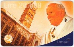 ITALY G-246 Prepaid Interroute - Pope John Paul II. - Used - Italy