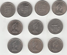 Jersey Coin - 8 Obsolete (Large Size) 10p - Jersey