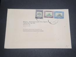 JORDANIE - Enveloppe Pour La Tchécoslovaquie, Affranchissement Plaisant - L 12192 - Jordan