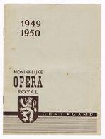 PROGRAMMA OPERA GENT 1949/1950  OPERA  HOFFMANN'S  VERTELLINGEN - Programmes