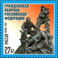 Russia, 2017, Mi. 2483, Sc. 7857, Civil Defense Of The Russian Federation, MNH - 1992-.... Federation