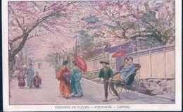 POSTAL JAPON - CERISIERS EN FLEURS - YOKOHAMA - Yokohama