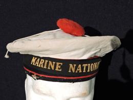 RARE BACHI MARINE NATIONALE  - FABRICATION AMERICAINE --  Matriculé TOULON 1952 - Casques & Coiffures