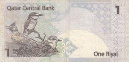 Dbn015 - Quatar One Riyal Used, 2 Scans - Qatar
