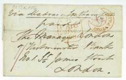 India Trichinopoly Tiruchirappalli Madras Ship Letter 1851 Postal History Cover - ...-1852 Prephilately
