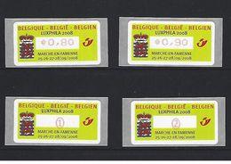 ATM 120  Luxphila2008 Marche-en Famenne -  Volledige Set POSTFRIS - Automatenmarken (ATM)