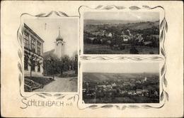Cp Ulrichskirchen Schleinbach In Niederösterreich, Straßenpartie Im Ort, Kirche, Landschaftsblick - Autriche