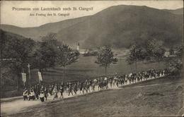 Cp Lautenbach Elsass Haut Rhin, Prozession Von Lautenbach Nach St. Gangolf, Religiöser Umzug - Frankrijk