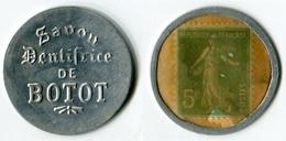 N93-0464 - Timbre-monnaie Dentifrice De Botot 5 Centimes - Kapselgeld - Encased Postage - Monétaires / De Nécessité