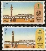 Saudi Arabia 1990 Al-Juhfa Mosque Rabegh 2 Values MNH Hadj - Saudi Arabia