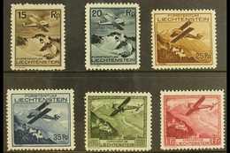 1930 AIRS Complete Set (Mi 108/13, SG 110/15) Fine Fresh Mint. (6 Stamps) For More Images, Please Visit Http://www.sanda - Liechtenstein