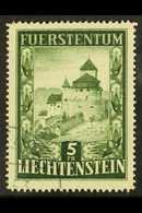 1952 5fr Green Castle, Mi 309, Very Fine And Fresh Used. For More Images, Please Visit Http://www.sandafayre.com/itemdet - Liechtenstein