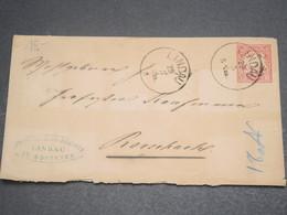 ALLEMAGNE / BAVIÈRE - Entier Postal De Lindau Pour Borschach En 1878 - L 12200 - Interi Postali