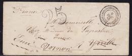 Corps Expéditionnaire D'Italie Du 9 Décembre 1850 Taxé Pour Réexpédition - Indice 19 - Storia Postale