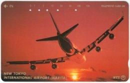 JAPAN F-508 Magnetic NTT [251-351] - Traffic, Airplane - 89B - Used - Japan