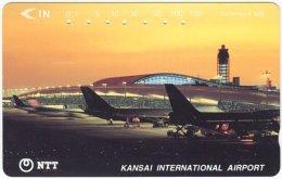 JAPAN F-510 Magnetic NTT [331-378] - Traffic, Airplane - Y8F - Used - Japan