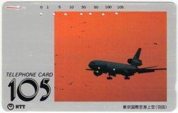 JAPAN F-523 Magnetic NTT [230-191-1990.7.1] - Traffic, Airplane - Used - Japan
