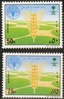 Saudi Arabia 1988 World Food Day 2 Values MNH Ear Of Corn - Saudi Arabia