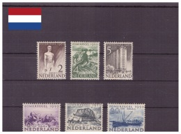 Pays-Bas 1950 - MH * - Développement Culturel Et Social - Michel Nr. 552-557 Série Complète V.C. 32,50 €! (ned140) - Nuovi