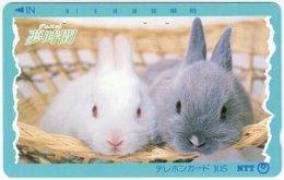 JAPAN F-652 Magnetic NTT [331-027] - Animal, Rabbit - Used - Japan