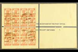 "1948 (8 Apr) 4½a Registered Stationery Envelope With ""PAKISTAN"" Nasik Overprint (26¼ X 3mm), On Reverse A Spectacular Fr - Pakistan"